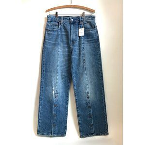 NWT Lucky Brand Jeans with Buttons Up Mid Calf